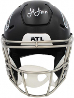 Julio Jones Signed Falcons Full-Size Authentic On-Field SpeedFlex Helmet (Beckett COA) at PristineAuction.com