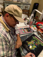 Kevin Eastman Signed 11x14 Photo with Hand-Drawn Turtles Sketch (PA COA) at PristineAuction.com