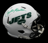 Curtis Martin Signed Jets Full-Size Authentic On-Field Matte White Speed Helmet (Radtke COA) at PristineAuction.com