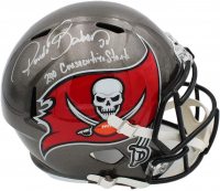 """Ronde Barber Signed Buccaneers Full-Size Speed Helmet Inscribed """"240 Consecutive Starts"""" (Radtke COA) at PristineAuction.com"""