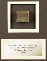"""""""Titanic"""" 9.5x19 Custom Matted Movie Prop Ship Piece Display at PristineAuction.com"""