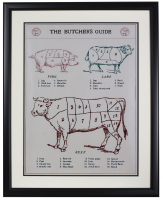 The Butcher's Guide 20x26 Framed Poster at PristineAuction.com