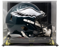 "Nick Foles Signed Eagles Full-Size Authentic On-Field Speed Helmet Inscribed ""SB LII MVP"" with Display Case (Fanatics Hologram) at PristineAuction.com"