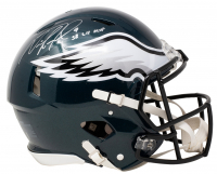 """Nick Foles Signed Eagles Full-Size Authentic On-Field Speed Helmet Inscribed """"SB LII MVP"""" with Display Case (Fanatics Hologram) at PristineAuction.com"""