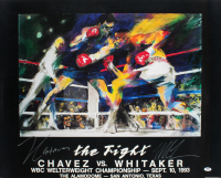 "Mike Tyson & Julio Cesar Chavez Signed ""The Fight"" 25x31 LeRoy Neiman Print (PSA Hologram) at PristineAuction.com"