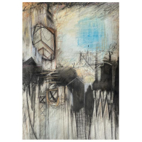 """John & Elli Milan Signed """"Abstract Study III"""" 20x20 Original Painting at PristineAuction.com"""