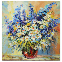 Yana Korobov Signed 24x24 Original Acrylic Painting on Canvas at PristineAuction.com