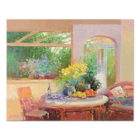 """Ming Feng Signed """"Summer Bouquet"""" 30x24 Original Oil Painting on Canvas at PristineAuction.com"""