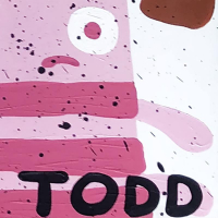 """Todd Goldman Signed """"Monsters"""" 48x48 Original Painting on Canvas at PristineAuction.com"""