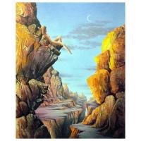 "Ken Shotwell Signed ""Cliff Hanger"" 16x20 Original Panting on Board at PristineAuction.com"