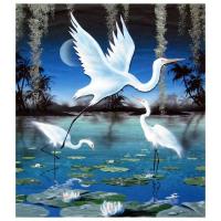 "Ken Shotwell Signed ""3-D Egrets"" 24x18 Original Panting on Board at PristineAuction.com"