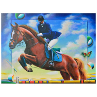 """Ferjo Signed """"Clearing the Obstacle"""" 30x40 Original Painting on Canvas at PristineAuction.com"""