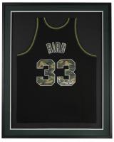 Larry Bird Signed 31x36 Custom Framed Jersey Display (Beckett COA & Bird Hologram) at PristineAuction.com