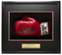 Joe Frazier Signed 18x19x4 Custom Framed Boxing Glove Display (JSA COA) at PristineAuction.com