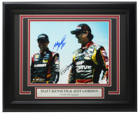 Jeff Gordon & Matt Kenseth Signed 11x14 Custom Framed Photo (JSA COA) at PristineAuction.com