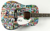 "Stan Lee Signed ""Marvel"" 40"" Acoustic Guitar (PSA Hologram) at PristineAuction.com"
