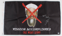 "Robert O'Neill Signed Osama Bin Laden Seal Team Six Flag Inscribed ""Never Quit!"" (PSA COA) at PristineAuction.com"