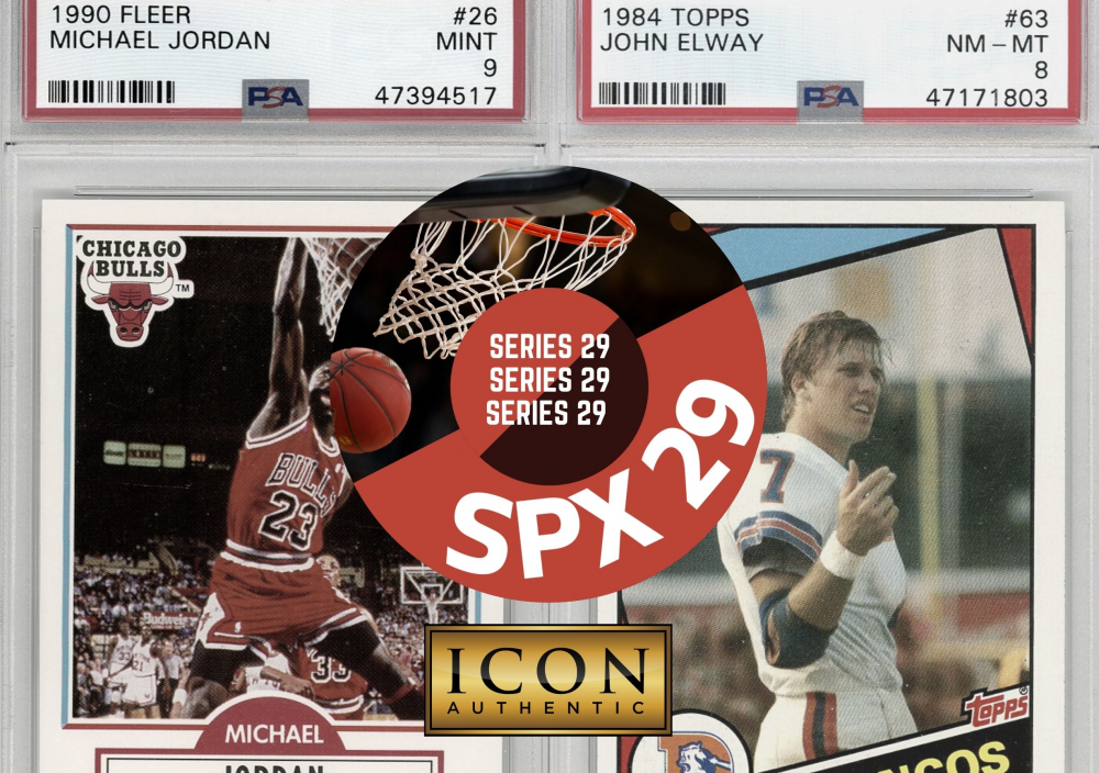 Icon Authentic SPX Series 29 Mystery Box 50+ Cards Per Box at PristineAuction.com