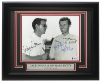 Richard Petty & Dale Inman Signed 11x14 Custom Framed Photo Display (Beckett COA) at PristineAuction.com
