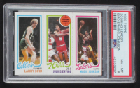 Larry Bird RC / 174 / Julius Erving TL / 139 Magic Johnson RC 1980-81 Topps #6 (PSA 8) at PristineAuction.com