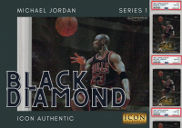 Icon Authentic Black Diamond Michael Jordan Series 1 Mystery Box 50+ Cards Per Box at PristineAuction.com