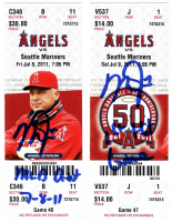 Mike Trout Signed Set of (2) Tickets with 1st MLB Debut Game & 1st MLB Hit Game Ticket with Inscription (MLB Hologram) at PristineAuction.com