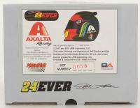 Jeff Gordon Signed NASCAR Limited Edition Axalta Rainbow 1:3 Scale Mini-Helmet (Gordon Hologram) (See Description) at PristineAuction.com