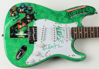 "Vanilla Ice & Kevin Eastman Signed ""Teenage Mutant Ninja Turtles"" 39"" Electric Guitar (PSA COA) at PristineAuction.com"