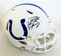 Peyton Manning Signed Colts Full-Size Authentic On-Field Matte White Speed Helmet (Fanatics Hologram) at PristineAuction.com