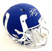 Peyton Manning Signed Colts Full-Size Authentic On-Field AMP Alternate Speed Helmet (Fanatics Hologram) at PristineAuction.com