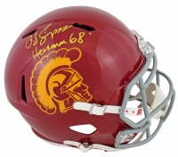 "O.J. Simpson Signed USC Trojans Full-Size Speed Helmet Inscribed ""Heisman 68"" (JSA COA) at PristineAuction.com"
