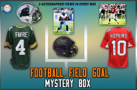 Schwartz Sports Football Field Goal Mystery Box - Series 5 (Limited to 100) (3 Autographed Items per Box) at PristineAuction.com