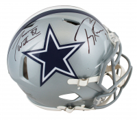 """Tony Romo & Jason Witten Signed Cowboys Full-Size Authentic On-Field Speed Helmet Inscribed """"America's Team"""" (Beckett COA & Witten Hologram) at PristineAuction.com"""