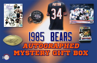 Schwartz Sports 1985 Chicago Bears World Champs Mystery Autograph Gift Box - Series 10 (Limited to 134) - **Grand Prize - 1985 Bears TEAM Signed Jersey** at PristineAuction.com