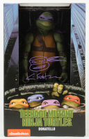 "Kevin Eastman Signed ""Teenage Mutant Ninja Turtles"" - Donatello - NECA 1:4 Scale Action Figure with Hand-Drawn Turtles Sketch (PA COA) at PristineAuction.com"