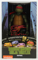 """Kevin Eastman Signed """"Teenage Mutant Ninja Turtles"""" - Raphael - NECA 1:4 Scale Action Figure with Hand-Drawn Turtles Sketch (PA COA) at PristineAuction.com"""