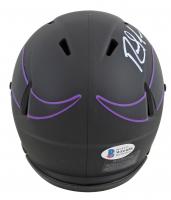Randy Moss Signed Vikings Eclipse Alternate Speed Mini-Helmet (Beckett COA) at PristineAuction.com