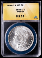 1881-O Morgan Silver Dollar, VAM-6A (ANACS MS62) at PristineAuction.com