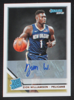 Zion Williamson 2019-20 Donruss Rated Rookies Signatures #201 RC at PristineAuction.com