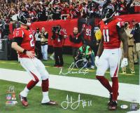 Matt Ryan & Julio Jones Signed Falcons 16x20 Photo (Beckett COA & Fanatics Hologram) at PristineAuction.com