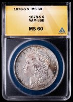 1878-S Morgan Silver Dollar, VAM-36B (ANACS MS60) at PristineAuction.com