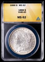 1888 Morgan Silver Dollar, VAM-40 (ANACS MS62) at PristineAuction.com