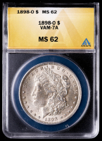 1898-O Morgan Silver Dollar, VAM-7A (ANACS MS62) at PristineAuction.com