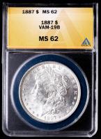 1887 Morgan Silver Dollar, VAM-19B (ANACS MS62) at PristineAuction.com
