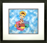 "Barbara Eden Signed I Dream of Jeannie ""Pillow Talk"" LE Custom Framed 18x20 Sericel #2/50 (JSA LOA) at PristineAuction.com"