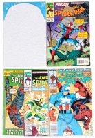 "Lot of (5) ""The Amazing Spider-Man"" Marvel Comic Books with Issues Ranging From #107-400 at PristineAuction.com"