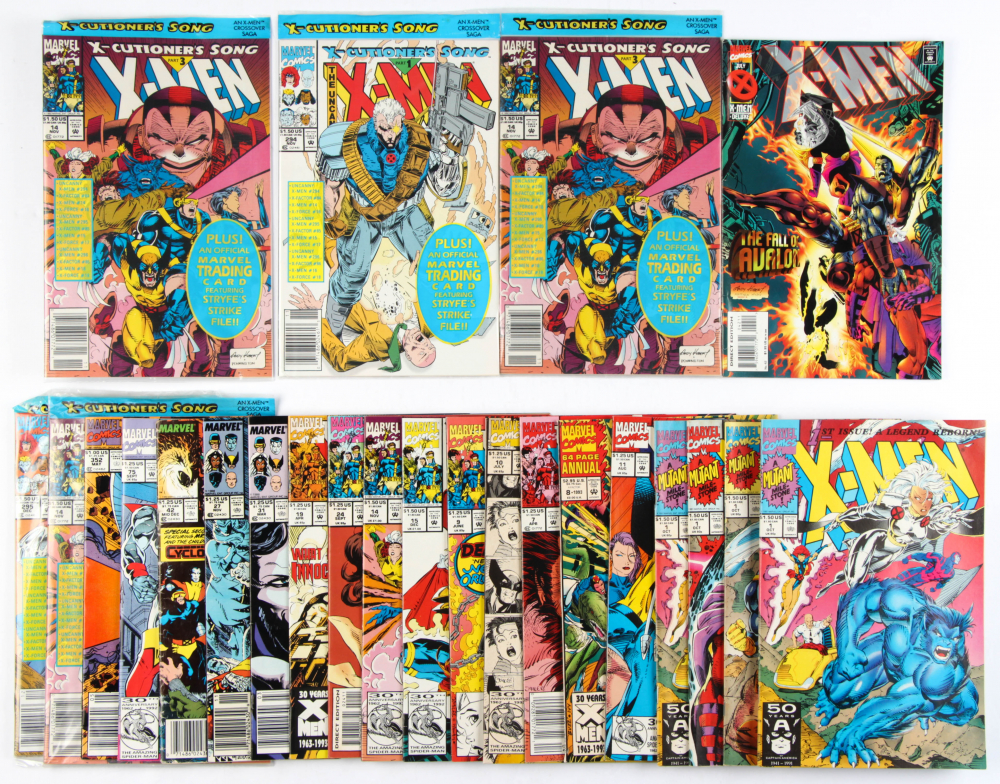 Lot of (24) X-Men Marvel Comic Books Issues Ranging from #1 - #352 at PristineAuction.com