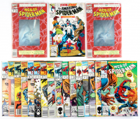 Lot of (19) Spider-Man Marvel Comic Books with Issues Ranging From #5-374 at PristineAuction.com