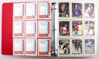 1991-92 Topps Complete Set of (528) Hockey Cards with 1991-92 Topps Scoring Leaders Complete Set of (21) Hockey Cards with #10 Wayne Gretzky, #3 Steve Yzerman, #201 Wayne Gretzky HL & #259 Brett Hull AS at PristineAuction.com
