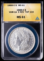 1888-O Morgan Silver Dollar, VAM-1A REV Top 100 (ANACS MS61) at PristineAuction.com